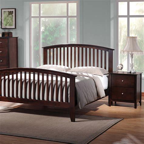 metropolitan 5 bedroom set slat bed wenge