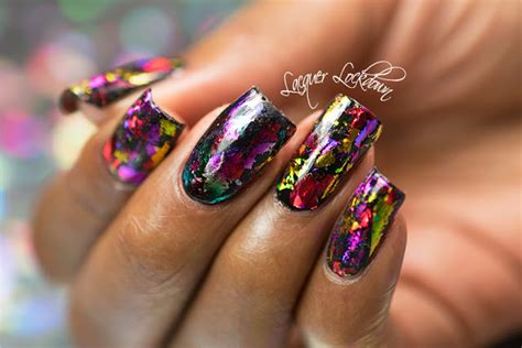 Foil Nail by Lacquer Lockdown Scattered Holographic Foil Nail