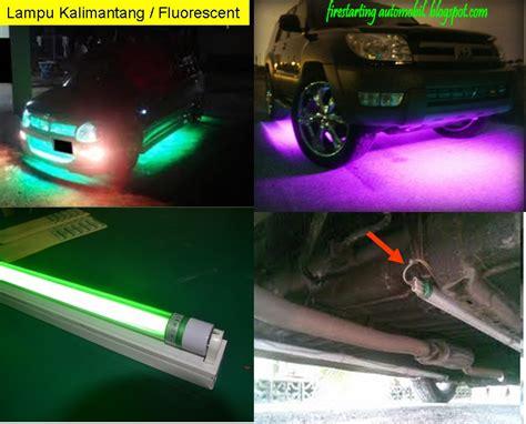 starting automobil diy lu neon led pada kereta