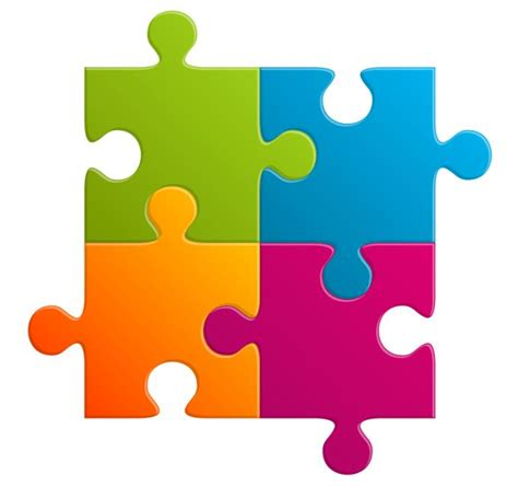 puzzle design elements vector puzzle vector