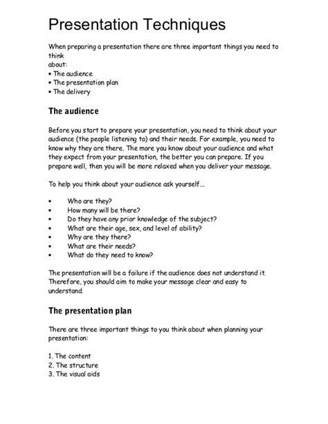 Presentation Techniques Write Up Preparing A Will Template