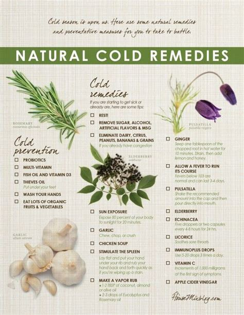 25 best ideas about cold remedies on