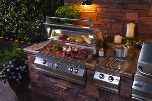 Prefab Outdoor Kitchen Island fire magic professional bbq grill retailer of las vegas