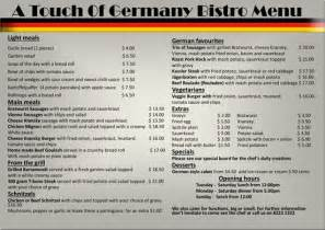 menu in german our best cooking propositions and recepts