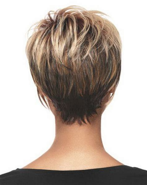 medium style hair with back a little shorter than sides short hairstyles back view