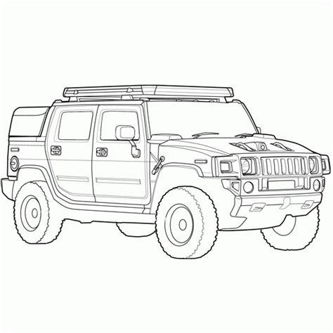 free trucks and cars coloring pages