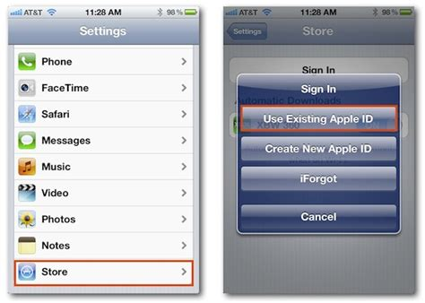 apple id login how to access the app store from another apple id in ios