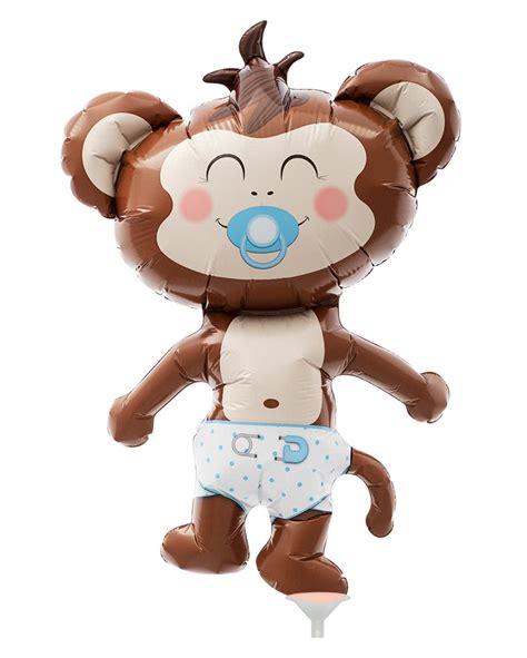 Balon Foil Baby Mini Boy mini foil balloon baby boy monkeys sweet balloon with
