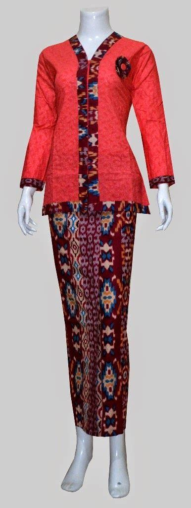 Stelan Batik Kebaya Bordir Bunga 3 4 Rok Span Embos Panjang Sb01 rok kebaya katun yokodwi