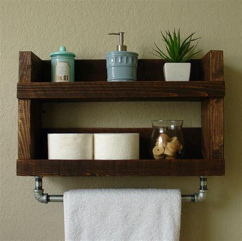 Modern Bathroom Shelving by Rustic Modern 2 Tier Bathroom Wall Shelf With 18 Quot Metal