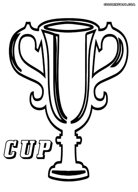 winner cup coloring pages coloring pages to download and
