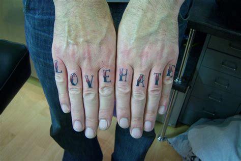 love and hate tattoos tattoo3d tattoos