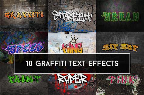 graffiti text effects photoshop add ons creative market