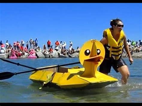 cardboard boat race ontario ducky mcduckface vs cham mingo at 2016 cardboard boat