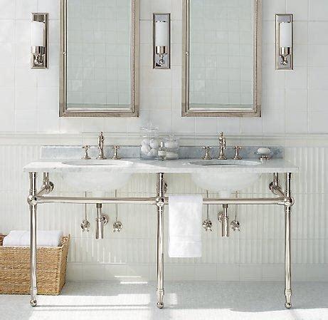 bathroom washstand gramercy double metal washstand