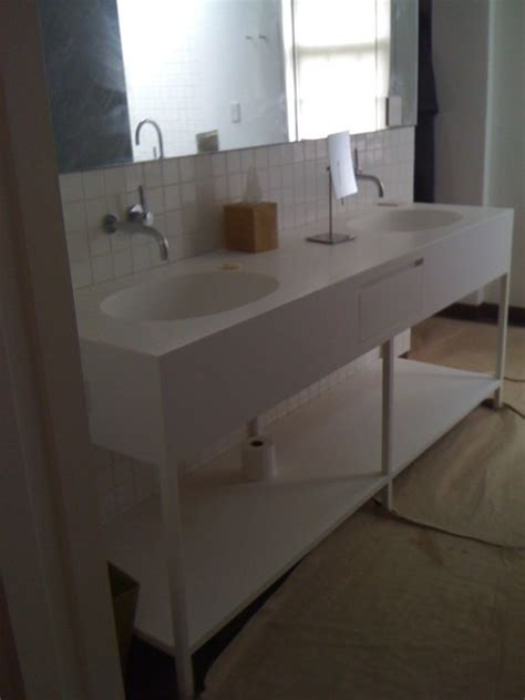 Quality Vanity Units by All Corian Solid Surface Cabinets Modern Bathroom