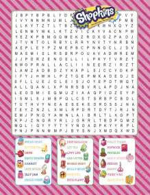 shopkins printable word search digital download by bee3shop