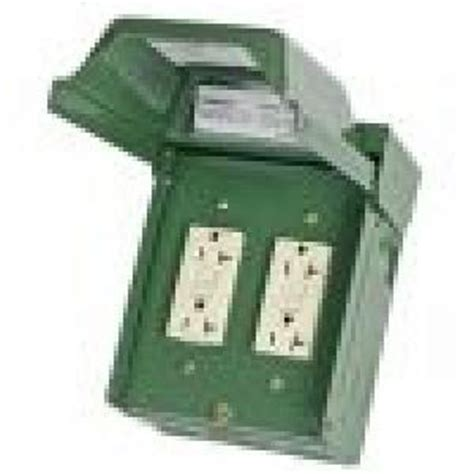 backyard outlet ge 2 20 amp backyard outlet with gfci receptacles
