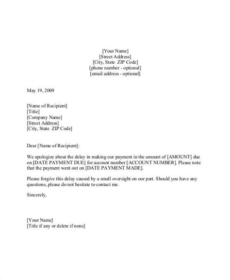 Business Letter Apology For Delay Payment business apology letter for late invoice 28 images