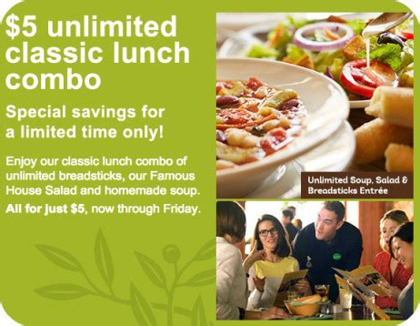Olive Garden Birthday Club by Olive Garden Unlimited Soup Salad And Breadsticks Only 5