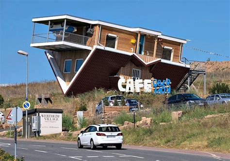 the amazing house in germany that is upside down germany has an upside down cafe and house hatke news