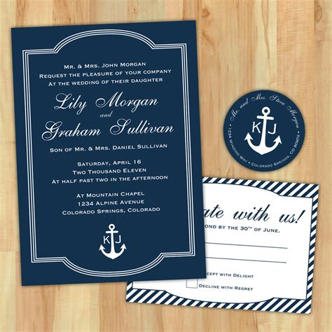 nautical wedding invitation wording diy nautical wedding invitation suite custom printable