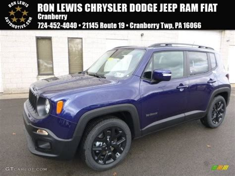 jeep renegade dark blue 2017 jetset blue jeep renegade altitude 119022717 photo