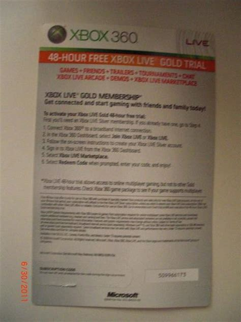 Xbox 2 Day Trial Code Giveaway - free xbox live trial codes free free engine image for user manual download