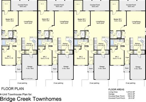 townhouse plan 4 plex townhouse floor plans 4 plex apartment floor plans