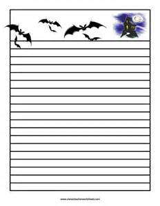 Halloween Writing Paper Template Halloween Paper And Lesson Plan Templates On Pinterest