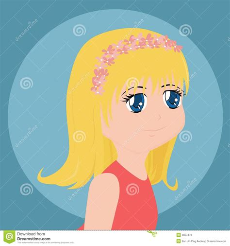 cute cartoon girl thinking royalty free stock photos cute cartoon girl royalty free stock photos image 3057478