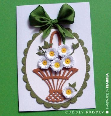 quilling basket tutorial quilled daisies in basket card making tutorial buddly crafts