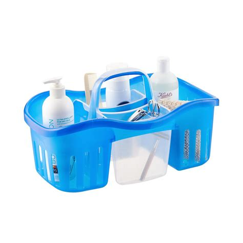bathtub shower caddy casabella blue 2 in 1 shower caddy the container store