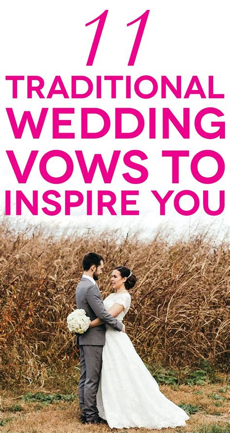Wedding Vows For Couples by 11 Traditional Wedding Vows To Inspire You