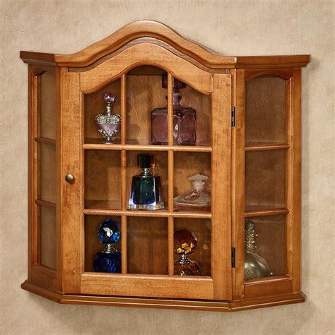 decorative wall curio cabinets ayden wooden wall curio cabinet