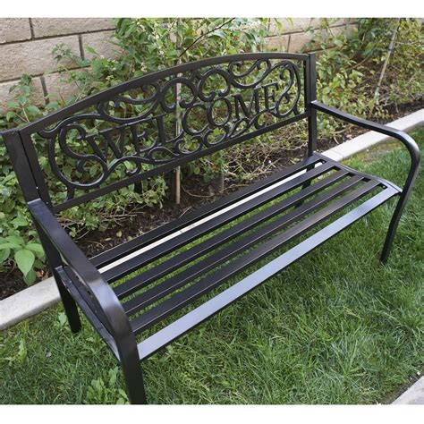 outdoor garden bench seat 50 quot inch outdoor patio bench furniture seat porch deck