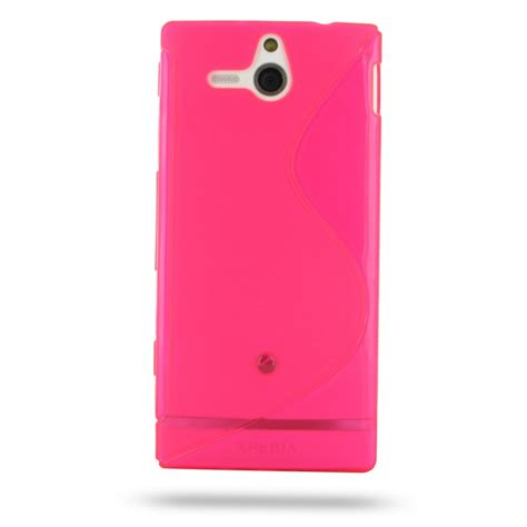 pink pattern cases sony xperia u soft case pink s shape pattern pdair 10