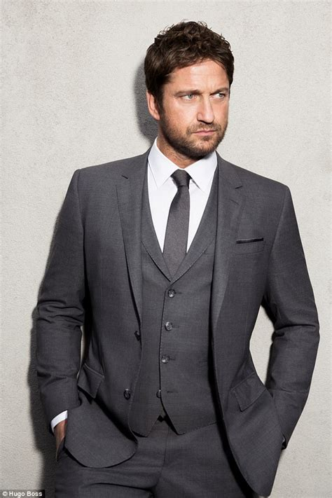 gerard butler is suited and booted in new caign