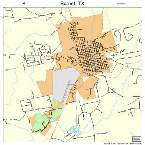 burnet county map burnet map 4811464