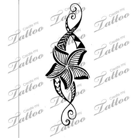 plumeria tribal tattoo 25 best ideas about tribal wave tattoos on