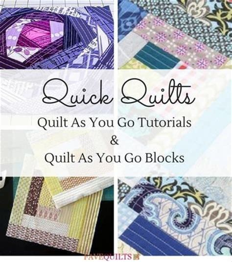Quilt As You Go Tutorials by Best 25 Quilt As You Go Ideas On Quilting