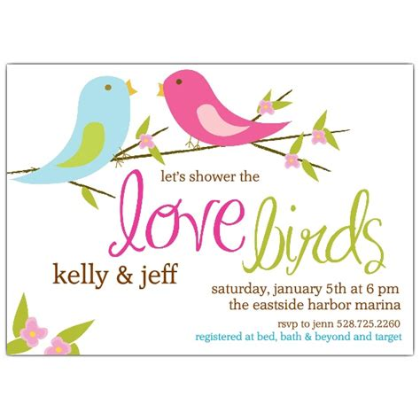 Wedding Shower by Birds Bridal Shower Invitations Paperstyle