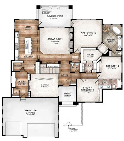 Pictures Of Open Floor Plans 17 Best Ideas About Open Floor Plans On Open