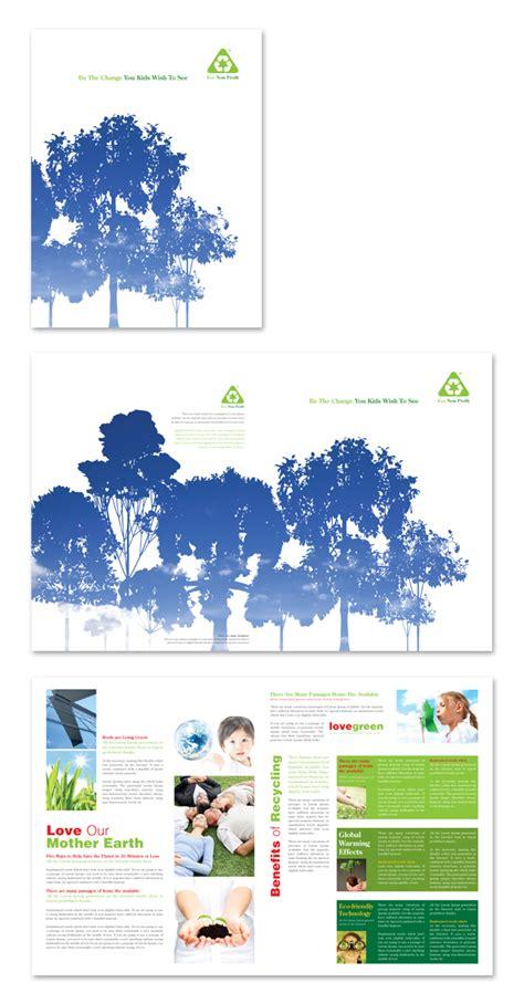 brochure template environmental environmental non profit brochure template