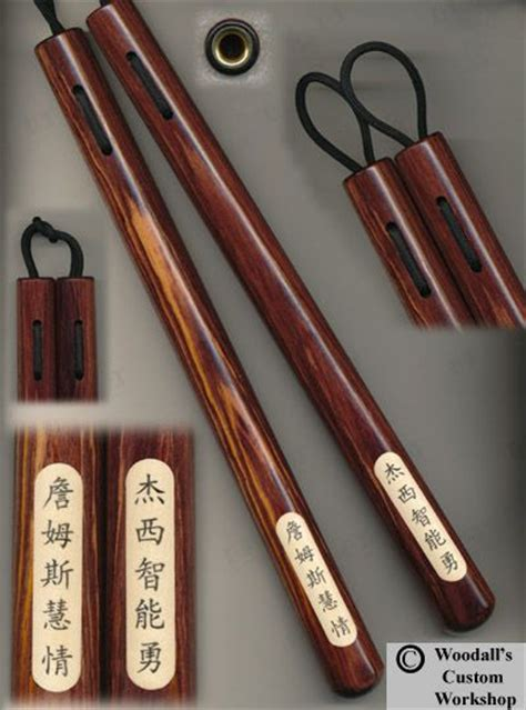 Handmade Nunchaku - cocobolo 12 quot tapered 1 quot 1 1 8 quot baseball bat with