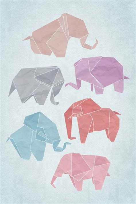 Origami Poster - best 25 origami elephant ideas on