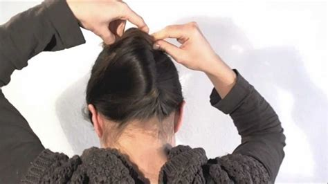elderly long hair french bun wig hairstyle 1 minute french twist with a stick youtube