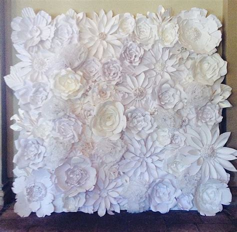 Handmade Wallpaper Designs - handmade paper flower wall backdrop photo by