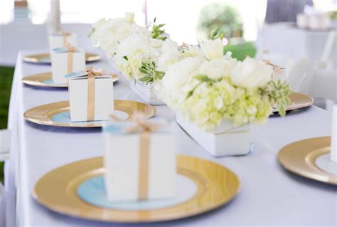 White Baby Shower Ideas by Kara S Ideas Blue Gold Baby Shower Kara S