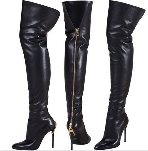 thigh high boots with back zipper boot hto